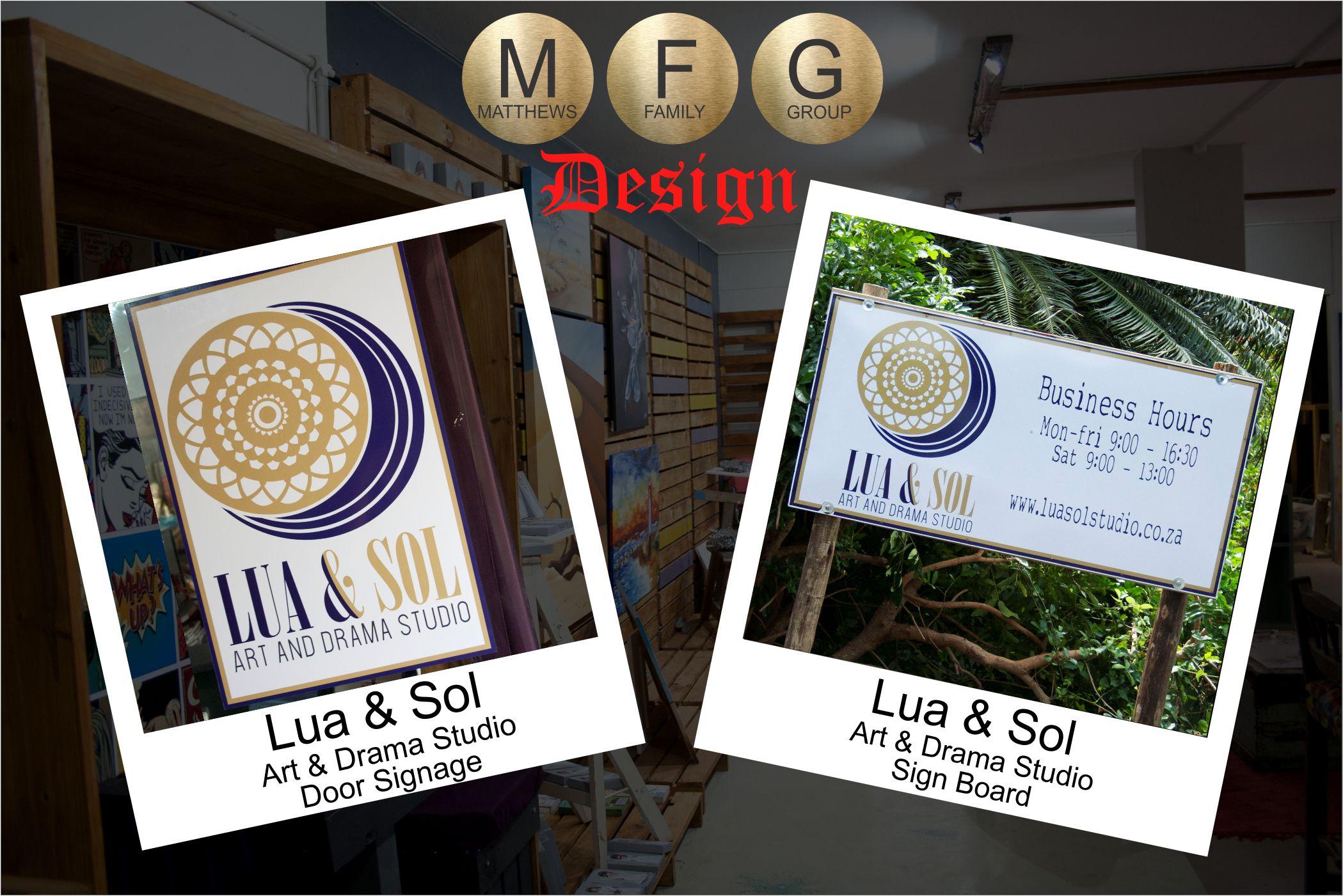 Lua & Sol Signage